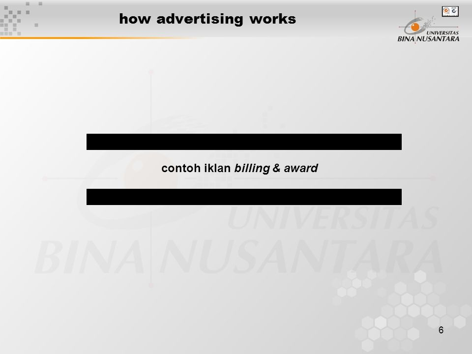 6 how advertising works contoh iklan billing & award