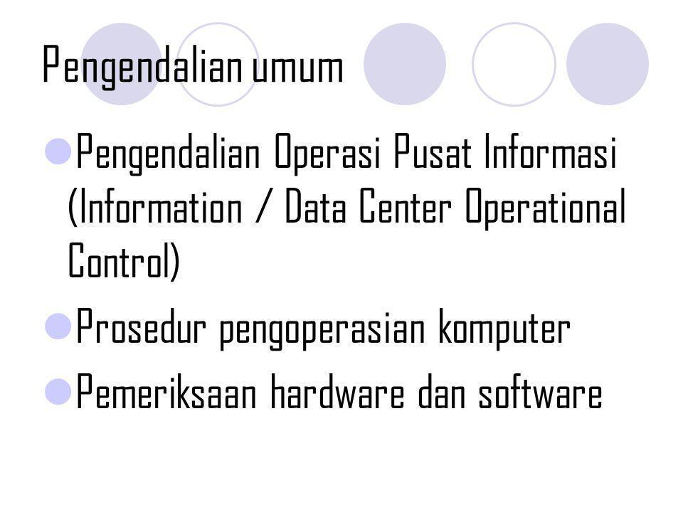 Pengamanan transaksi SECURITY MEASURES Sistem berbasis komputer Pembatasan akses terhadap aset Menjaga aset dari kerusakan dan gangguan.