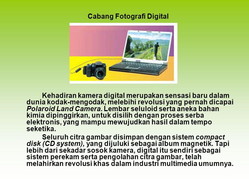 Kehadiran kamera digital merupakan sensasi baru dalam dunia kodak-mengodak, melebihi revolusi yang pernah dicapai Polaroid Land Camera. Lembar seluloi