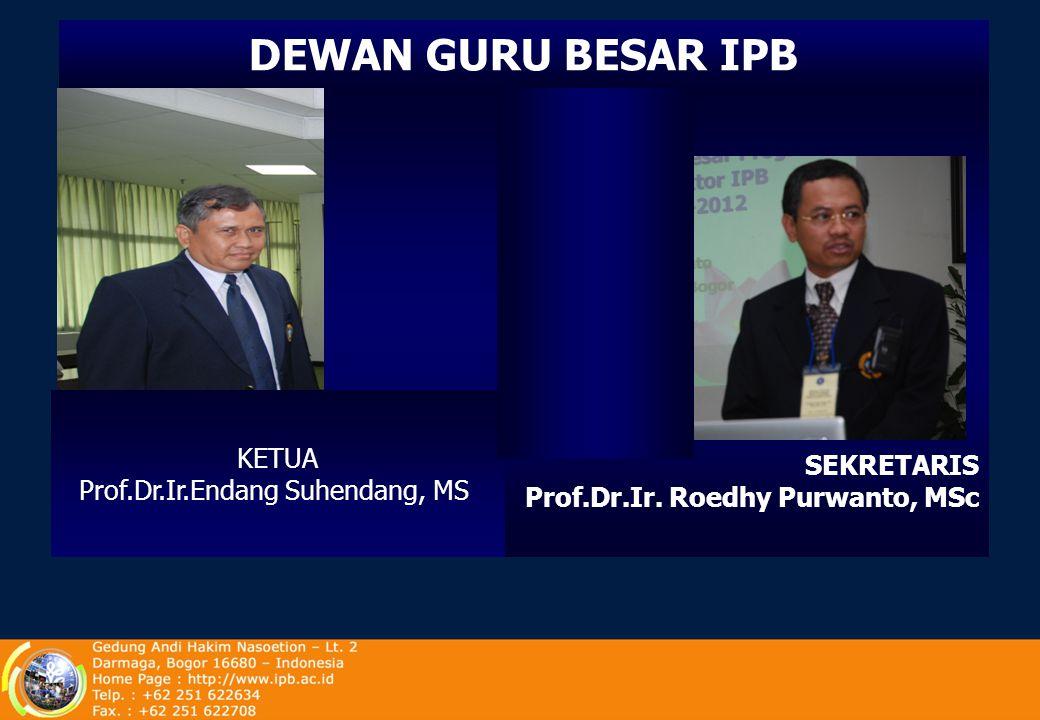 KETUA : Prof. Dr. Ir. Dudung Darusman, MA SEKRETARIS : Dr. Ir. Soeryo Adiwibowo, MS SENAT AKADEMIK IPB