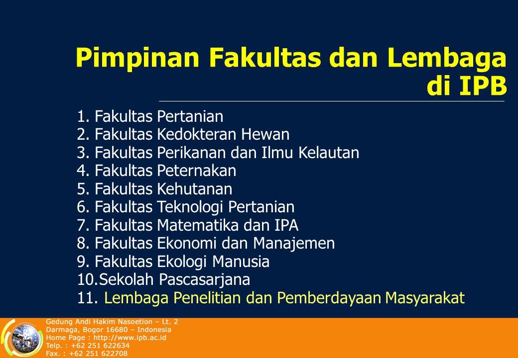 SEKRETARIS Prof.Dr.Ir. Roedhy Purwanto, MSc KETUA Prof.Dr.Ir.Endang Suhendang, MS DEWAN GURU BESAR IPB