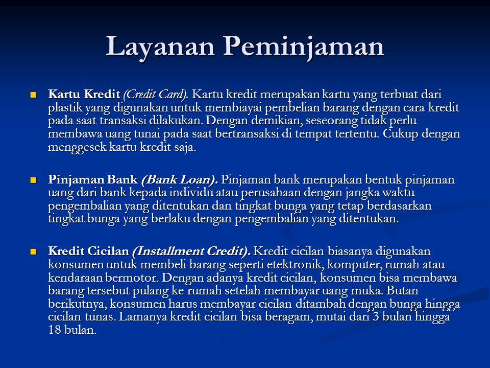 Layanan Peminjaman Kartu Kredit (Credit Card).