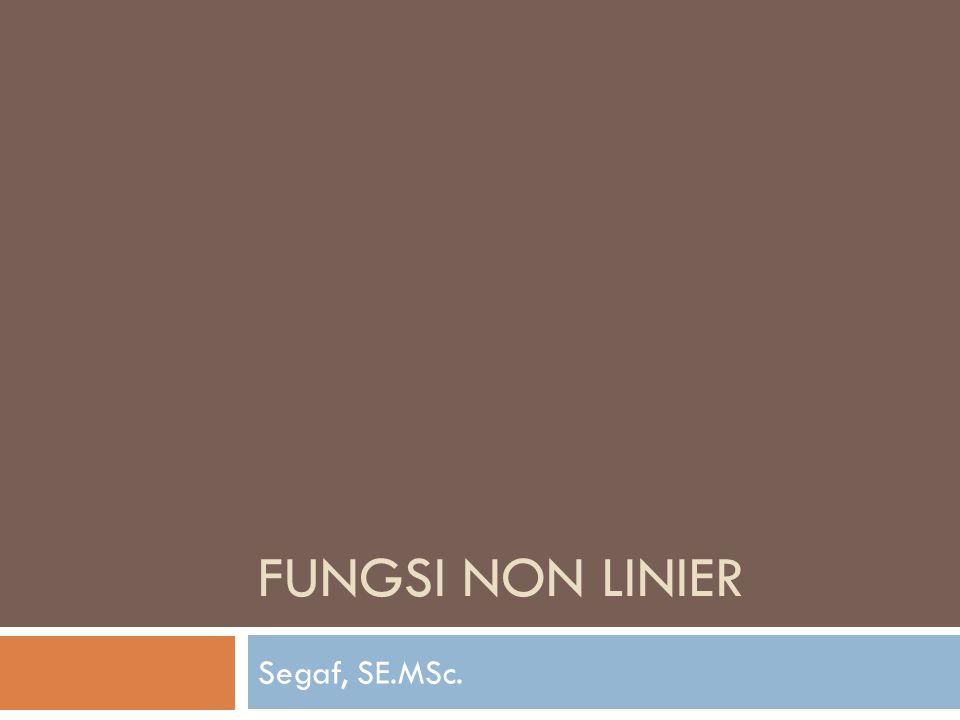 FUNGSI NON LINIER Segaf, SE.MSc.