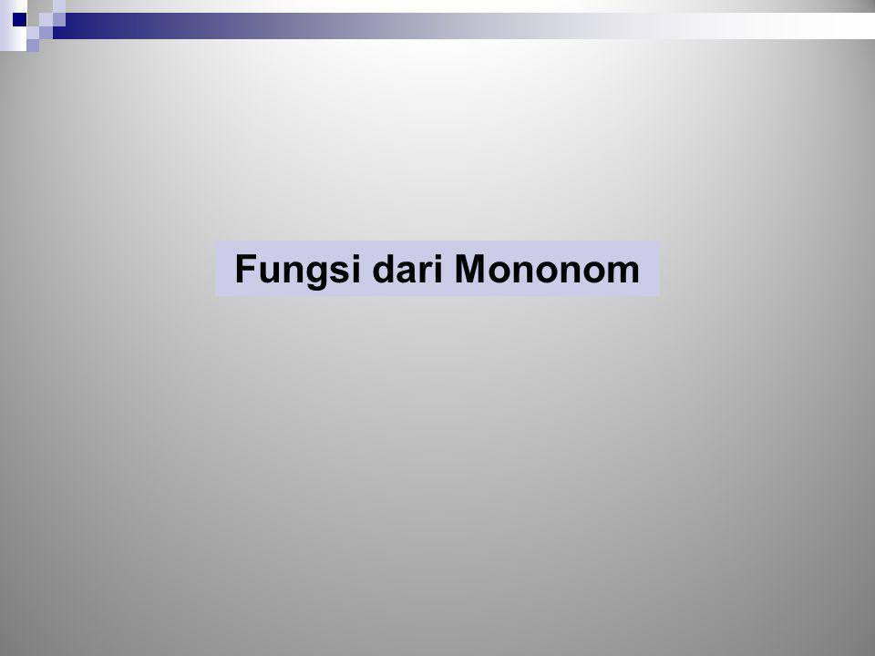Fungsi dari Mononom