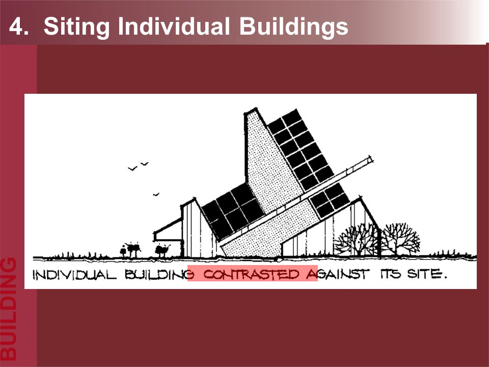4. Siting Individual Buildings
