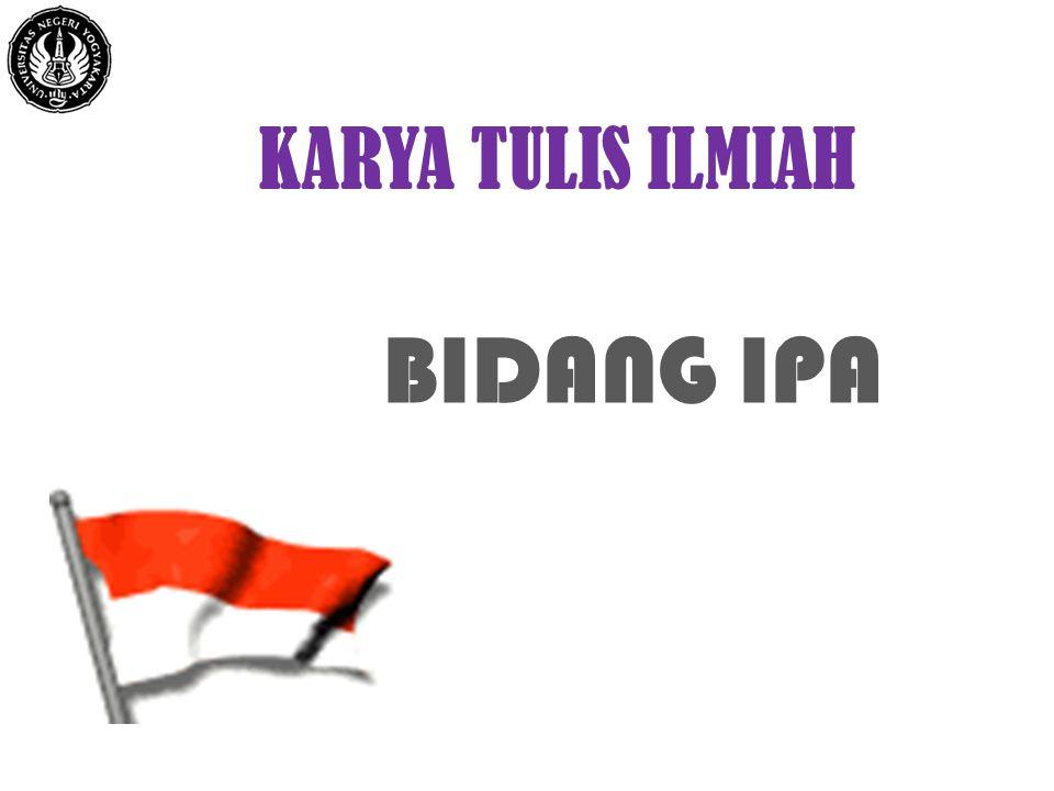 Karya Tulis Ilmiah Bidang Ipa Insih Wilujeng M Pd S 1 Pend Fisika Fmipa Uny S 2 Pend Ipa Unesa S 3 Pend Ipa Upi Ppt Download