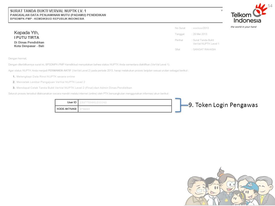9. Token Login Pengawas 54