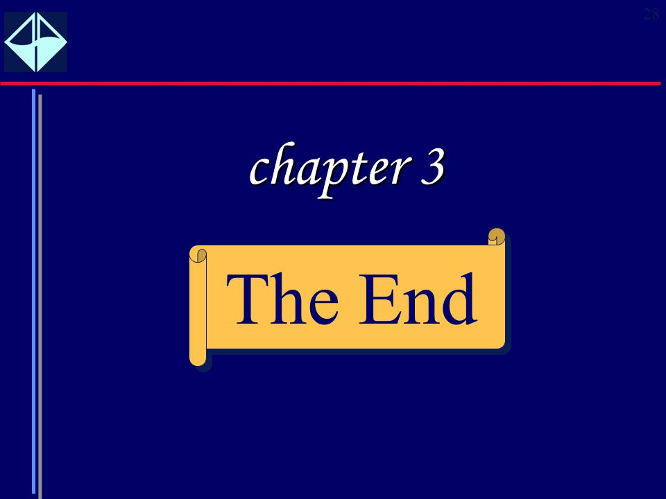 28 The End chapter 3
