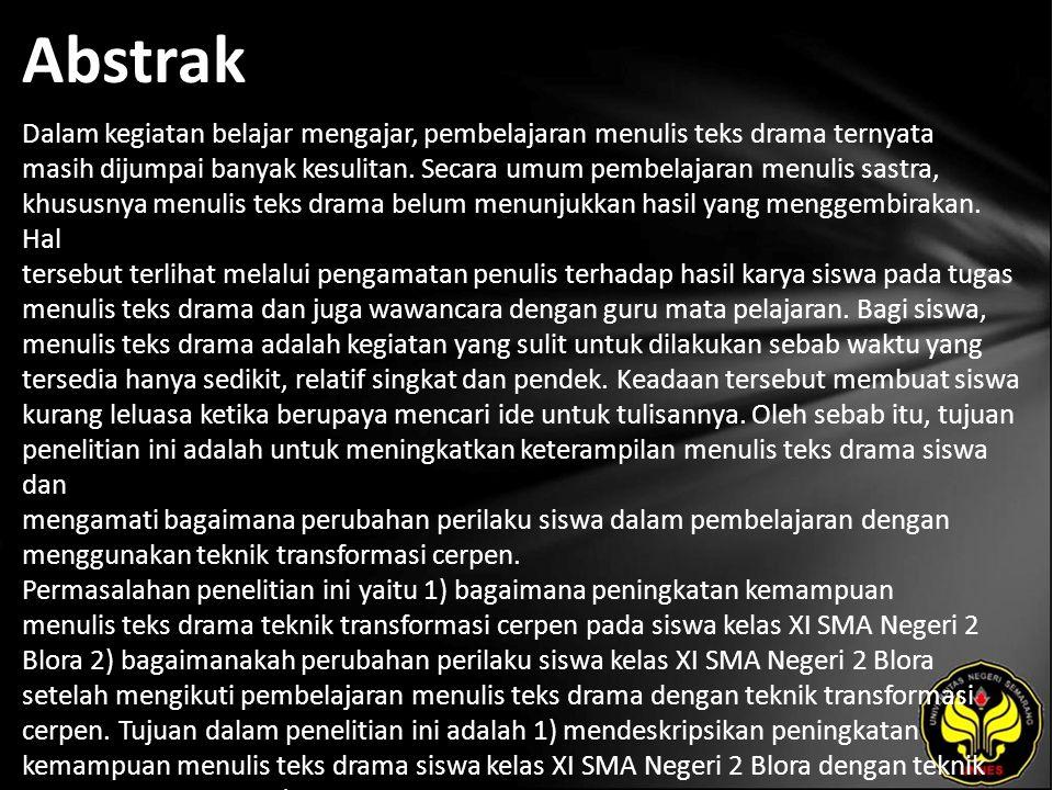 Hikmah Zulfiana Peningkatan Keterampilan Menulis Teks Drama Melalui