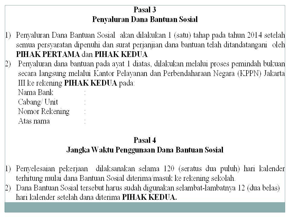 Surat Perjanjian Penggunaan Dana Sp2dmou Ppt Download