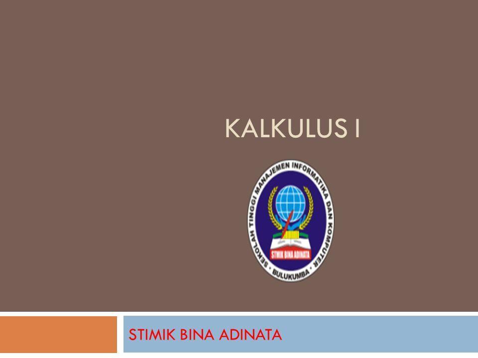Kalkulus I Stimik Bina Adinata Biodata Dosen Muhammad Awal Nur
