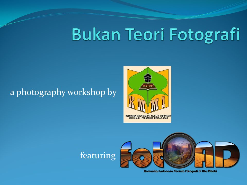 a photography workshop by featuring