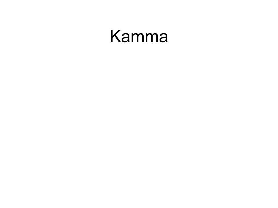 Kamma What determines a successful business. •Random events.