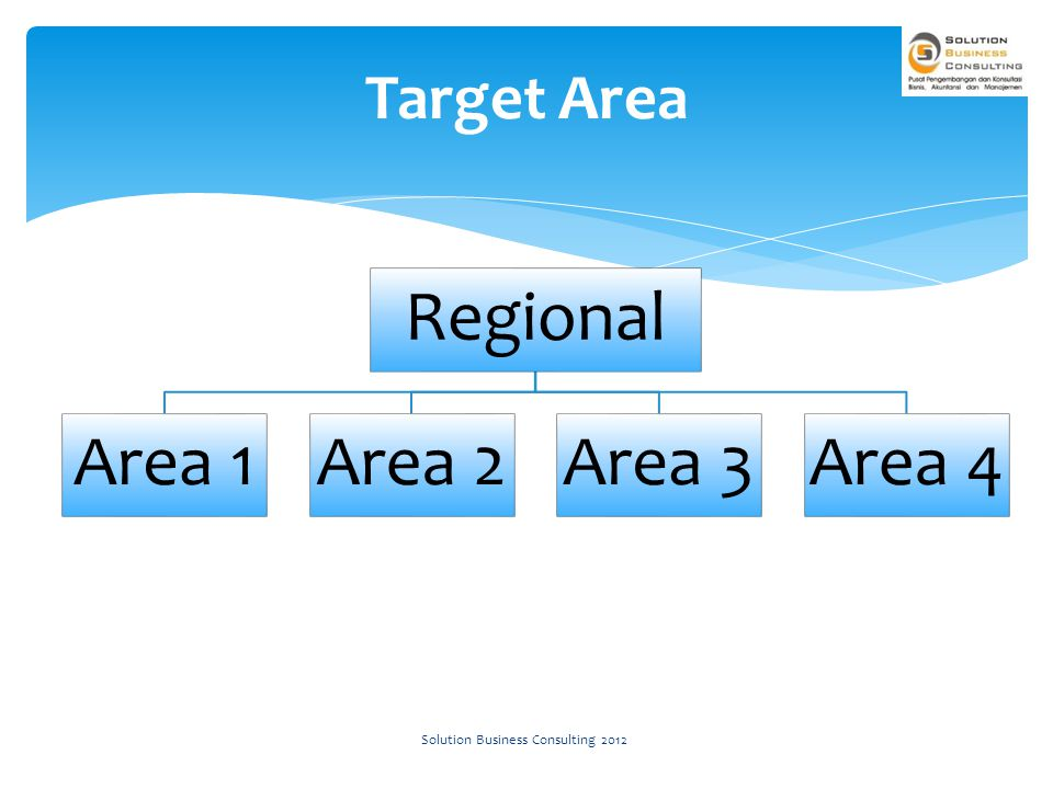 Regional Area 1Area 2Area 3Area 4 Target Area Solution Business Consulting 2012