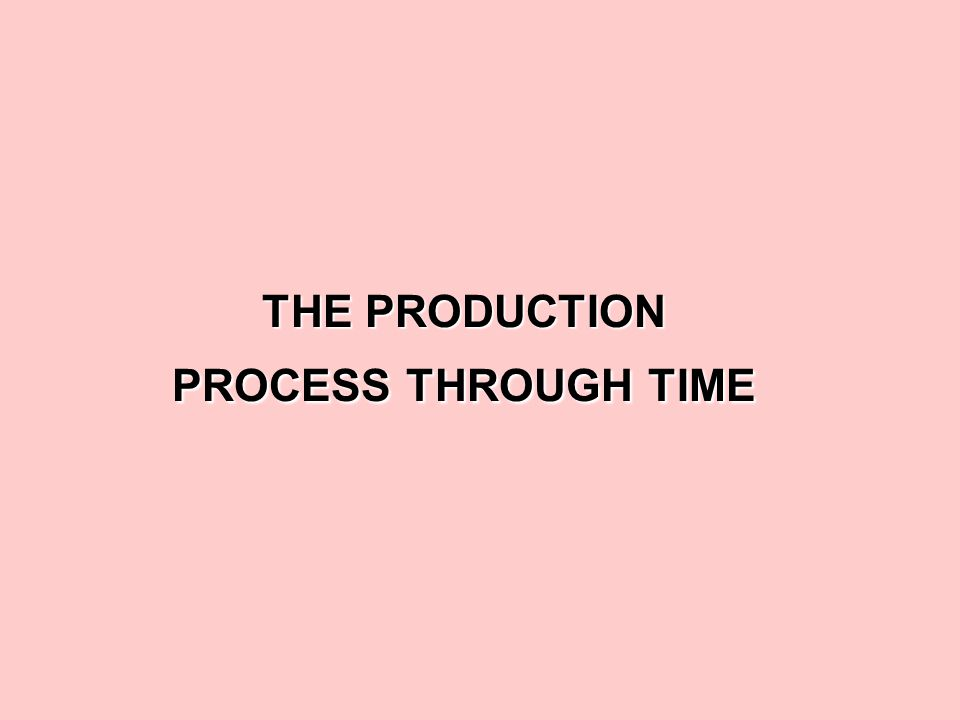 THE PRODUCTION PROCESS THROUGH TIME