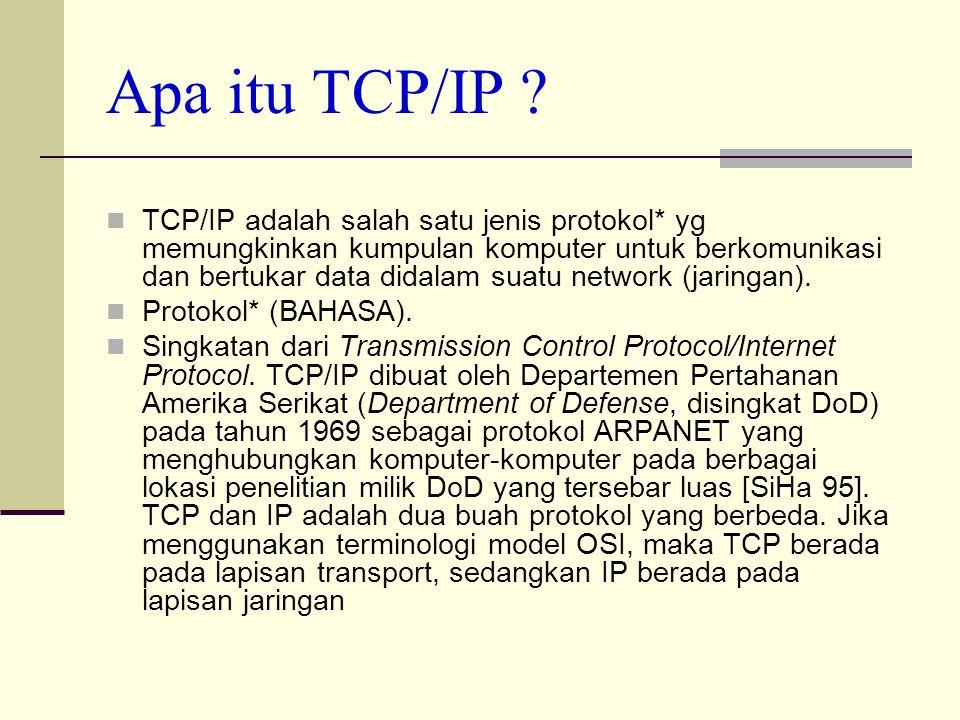 Internet Protocol Tcp Ip Ip Configuration Apa Itu Tcp Ip Tcp Ip Adalah Salah Satu Jenis Protokol Yg Memungkinkan Kumpulan Komputer Untuk Berkomunikasi Ppt Download
