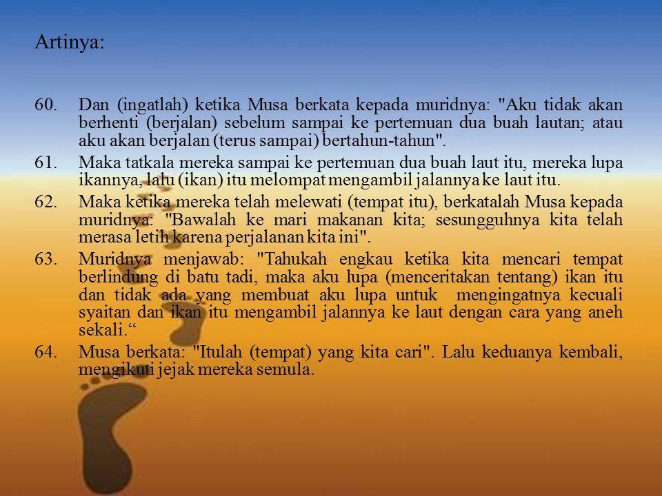 Analisis Surah Al Kahfi Ayat60 82 Siti Masrifah Dosen