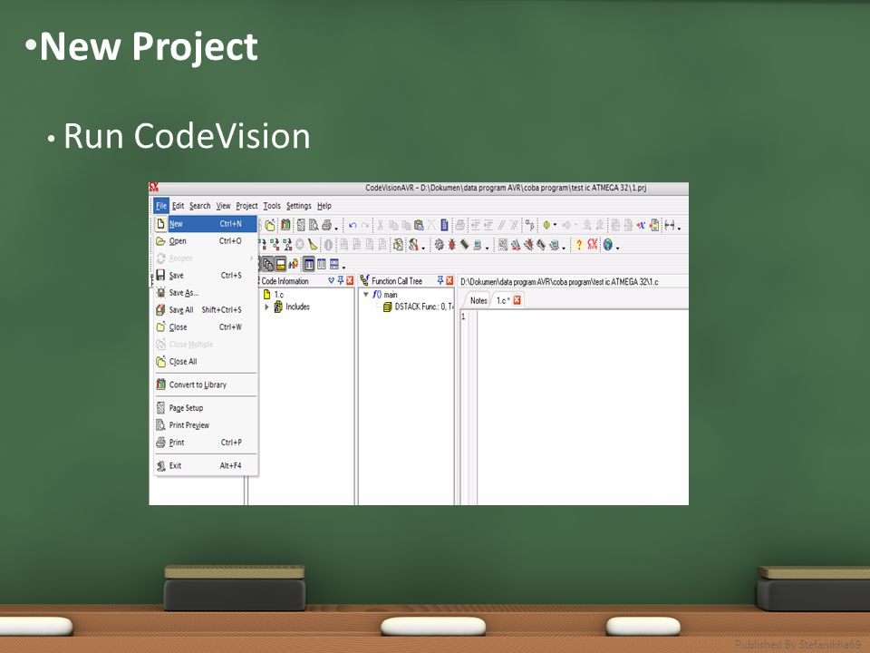 • New Project • Run CodeVision Published By Stefanikha69