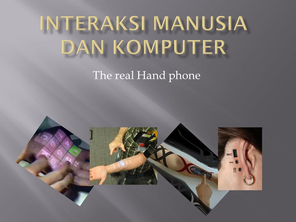 The real Hand phone