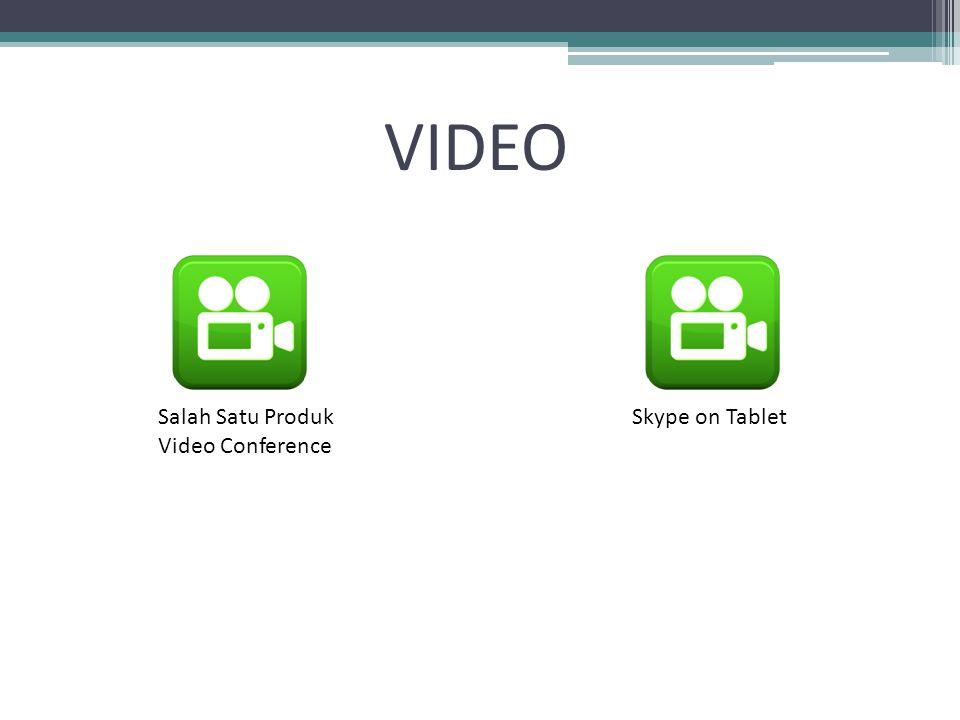 VIDEO Salah Satu Produk Video Conference Skype on Tablet