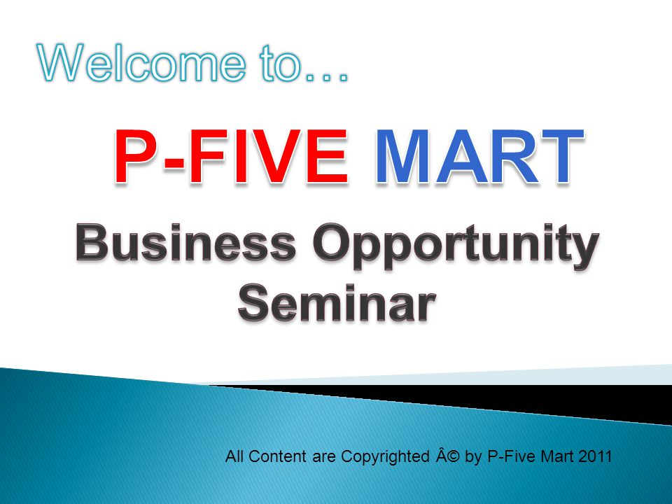 All Content are Copyrighted © by P-Five Mart 2011