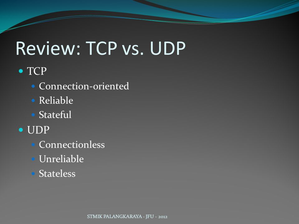 Review: TCP vs.
