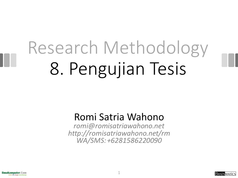 Research Methodology 8.