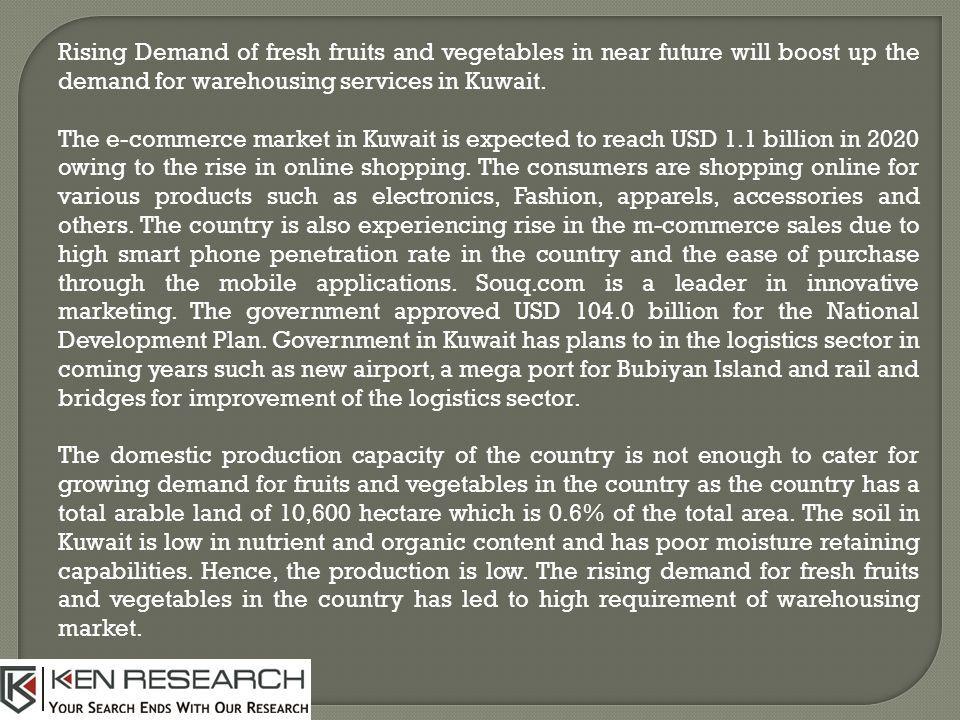 Kuwait Warehousing Market is Expected to reach USD million