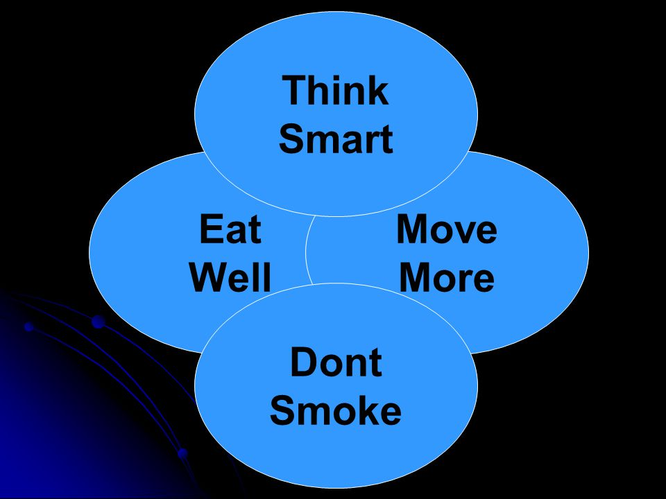 Eat Well Move More Think Smart Dont Smoke