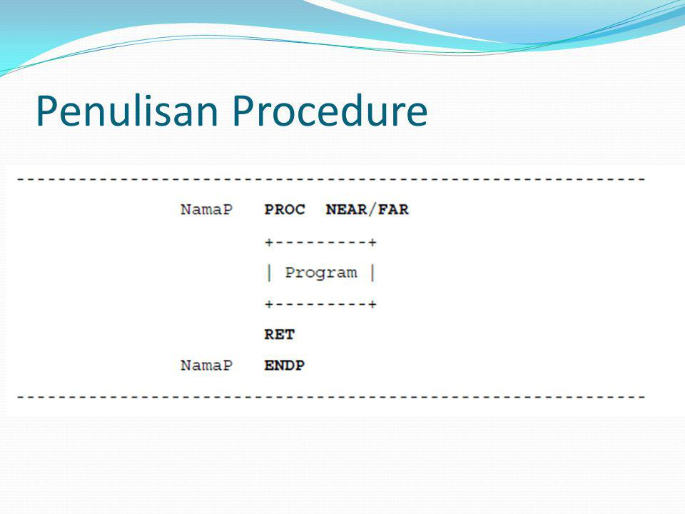 Penulisan Procedure