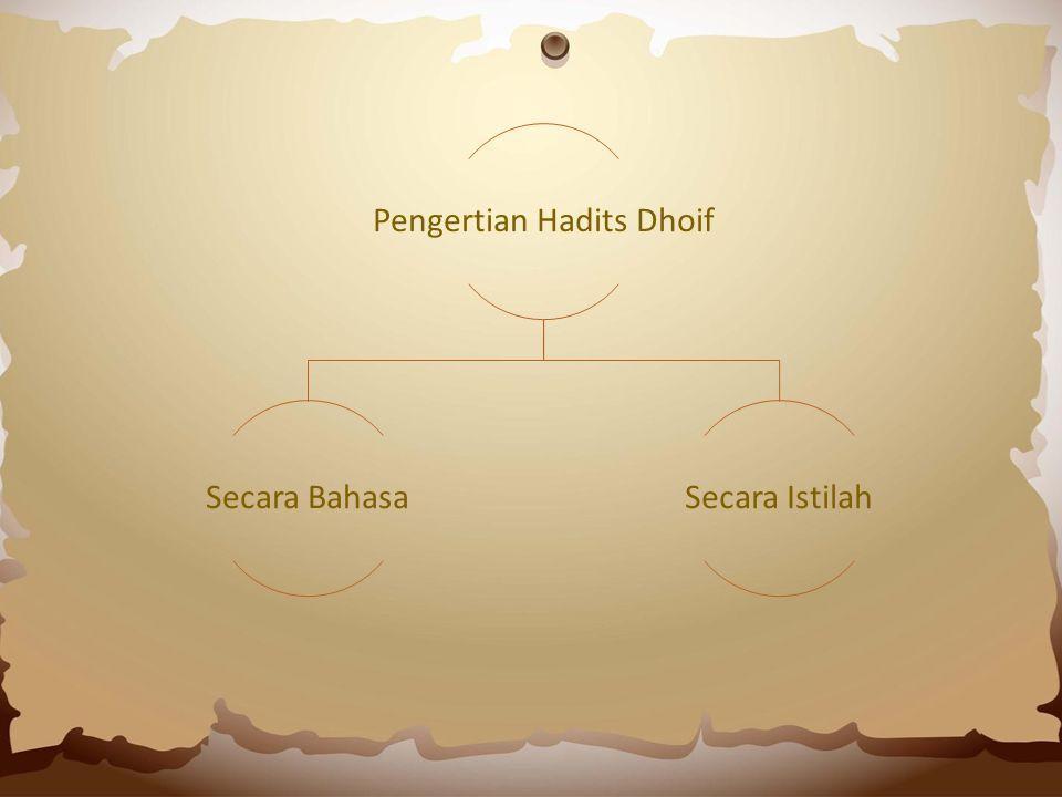 Contoh Hadits Dhaif Mursal 46