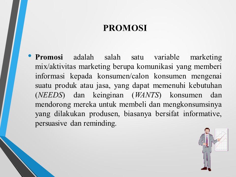 Mempromosikan Produk Promosi Adalah Salah Satu Variable Marketing Mix Aktivitas Marketing Berupa Komunikasi Yang Memberi Informasi Kepada Konsumen Calon Ppt Download
