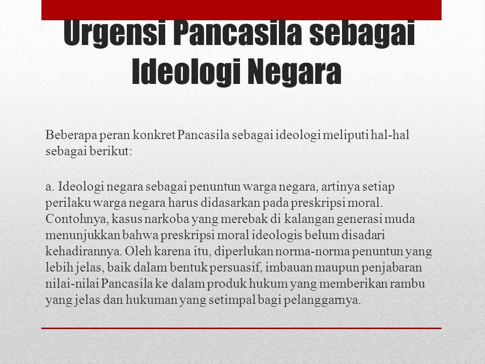 Urgensi Pancasila Sebagai Ideologi Nkri Disusun Oleh Kelompok 1 Ganda Hevit Novika E K Magdallena Mohamad Riski Ppt Download